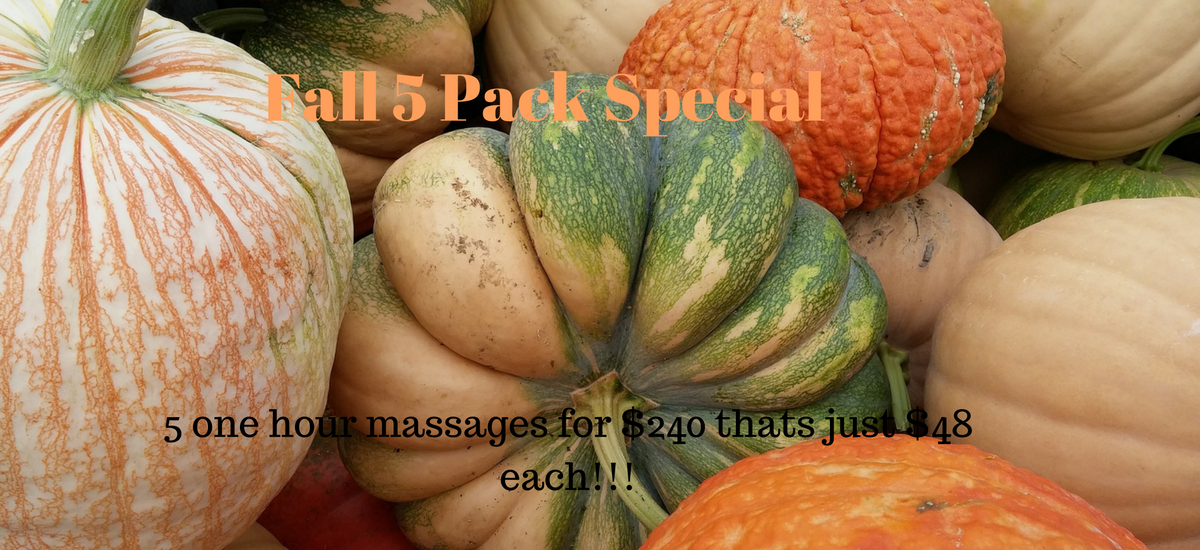 Fall Special massage central oregon Redmond